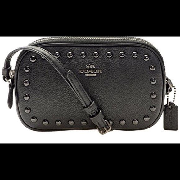 0591ea8c0 Coach Bags | Crossbody Clutch With Lacquer Rivets | Poshmark